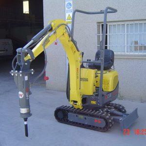Venta de mini excavadora con capacidad de perforación de 2012-2035 mm