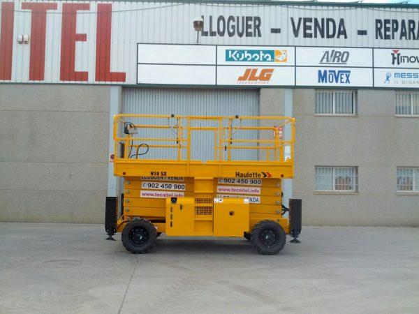 Venta de plataforma de tijera diésel con estabilizadores hidráulicos automáticos