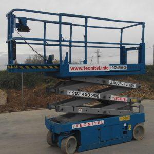 Venta de plataforma de tijera eléctrica con capacidad de carga de 363 kg