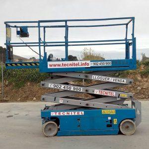 Venta de plataforma de tijera eléctrica con pendiente superable del 30%