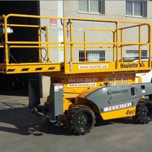 Venta de plataforma de tijera con tracción en las cuatro ruedas
