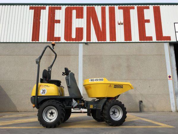Venta de dumper Wacker Neuson con carga útil máxima de 1500 kg