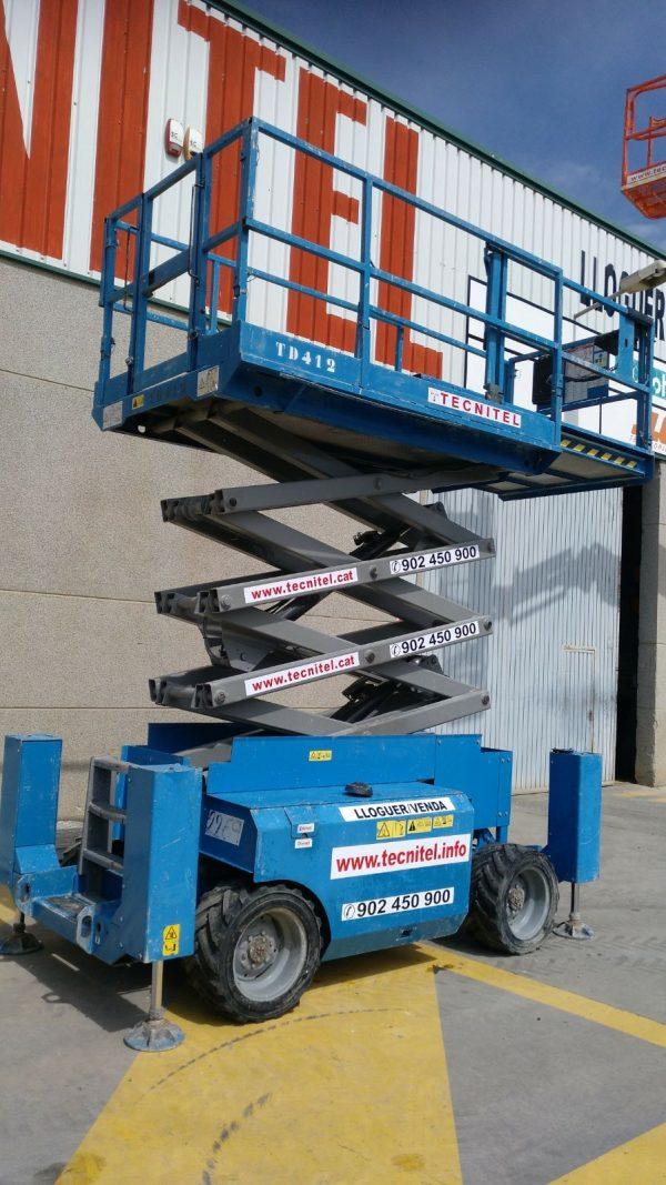Venta de plataforma de tijera con tracción a las cuatro ruedas